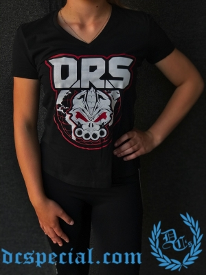 DRS Dames V-neck T-schirt 'Worldwide Warriors'
