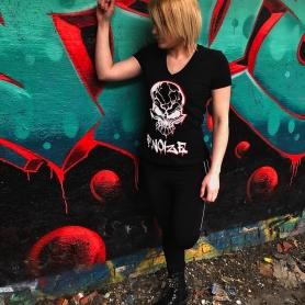 F. Noize Ladies V-neck T-shirt 'Graffitti'