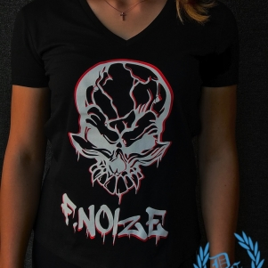 F. Noize Dames V-neck T-shirt 'Graffitti'
