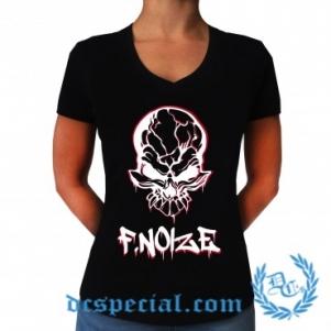 F. Noize V-neck T-shirt Pour Femmes 'Graffitti'