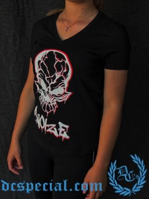 F. Noize Dames V-neck T-shirt 'Graffitti'