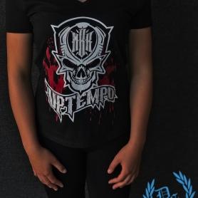 MBK Ladies V-neck T-shirt 'BLOOD'