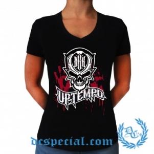 MBK V-neck T-shirt Pour Femmes 'BLOOD'