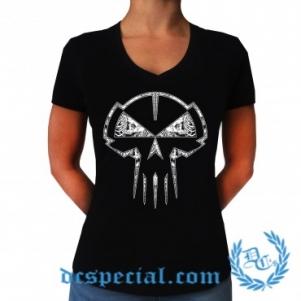 Rotterdam Terror Corps  V-neck T-shirt Pour Femmes 'Skull'