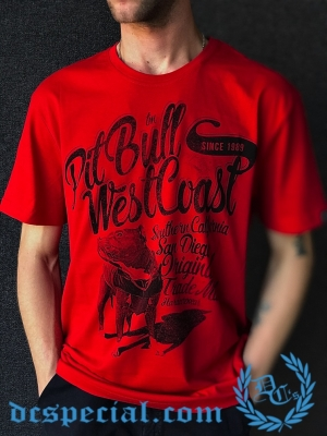 Pit Bull Westcoast T-shirt 'Doggy Red'