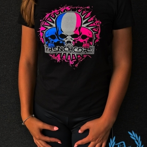 Frenchcore T-shirt 'French Skulls'