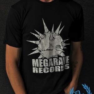 Megarave T-shirt '100% Hardcore'