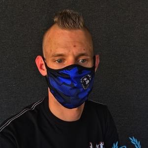 Pit Bull Westcoast Mondmasker 'Fight The Virus Royal Blue'