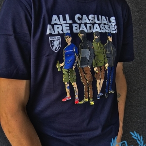 PGwear T-shirt 'All Casuals Are Badasses'
