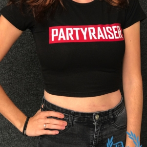 Partyraiser Ladies Crop Top 'Partyraiser'