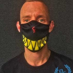 Chaotic Hostility Mondmasker 'Smile Black/Yellow'