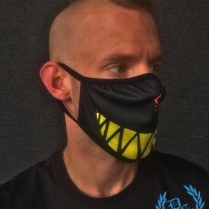 Chaotic Hostility Mouth Mask 'Smile Black/Yellow'