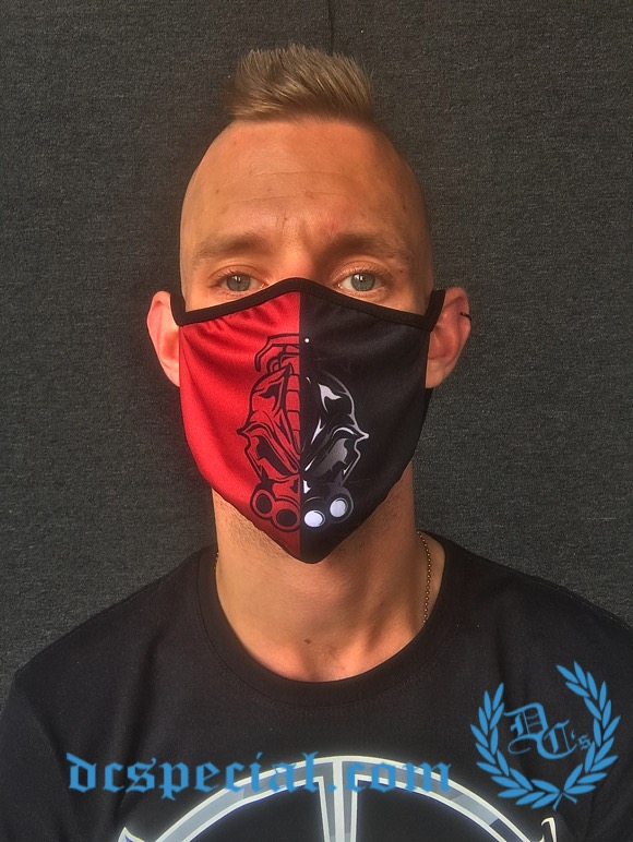 DRS Mouth Mask 'DRS Red/Black'