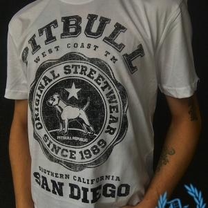 Pit Bull Westcoast T-shirt 'University Logo White'