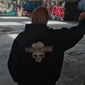 Frenchcore Hooded Sweater 'Skull & Flag'