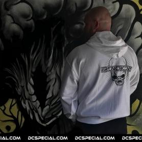 Frenchcore Hooded Sweater 'Skull White'