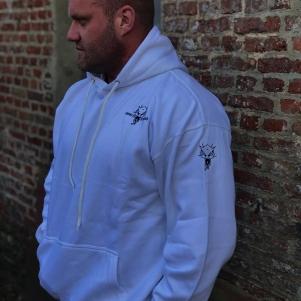 Neophyte Records Hooded Sweater 'Neophyte Records White'