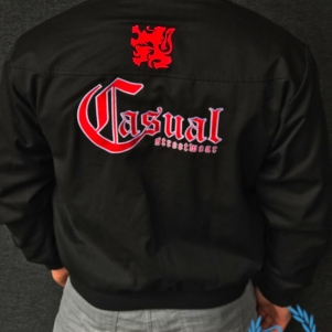Casual Harrington Jacket 'Casual Lion Red/Black'