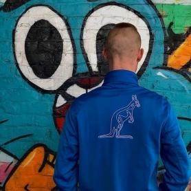 Australian Training Jacket 'Turqoise/Capri Blue'