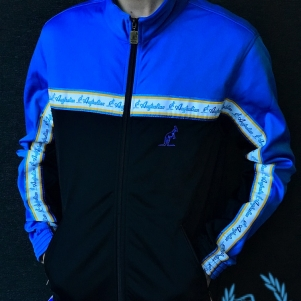 Australian Training Jacket 'Black/Capri Blue' Trim'
