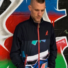 Australian Training Jacket 'Giacca Stampa Black/Multi'