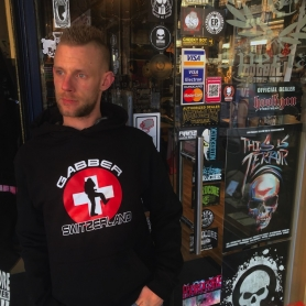 Hardcore Hooded Sweater 'Gabber Switzerland'