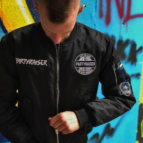 Partyraiser Limited Edition Bomber Jacket 'Life's Too Short For Slow Hardcore'