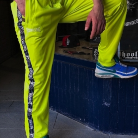 100% Hardcore Trainingsbroek 'Taped Stripe Yellow'