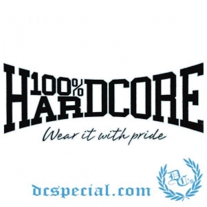 100% Hardcore Car Window Sticker 'The Brand Black'