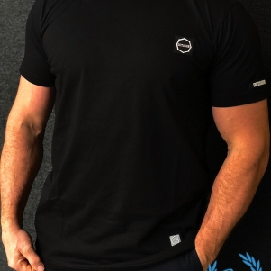 Octagon T-shirt 'Small Logo Black'