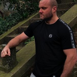 Octagon T-shirt 'Stripe Black'