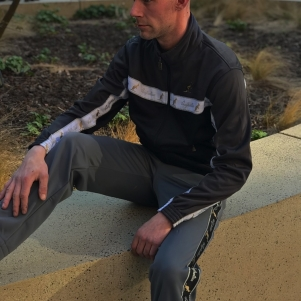 Australian Training Jacket 'Titanium Grey/White'