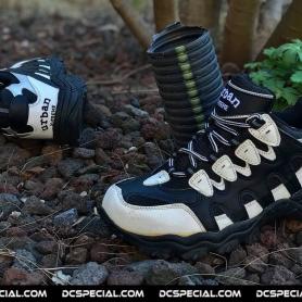 Urban Sneakers 'Steel Toe Sport Shoe Black/White'