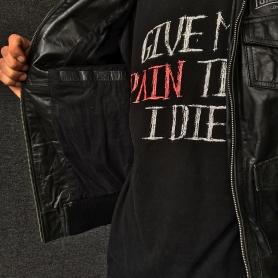 Lonsdale Leather Jacket 'Full Leather Black'