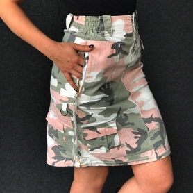 Army Clothing Women's Skirt 'Subdued Pink Camo'