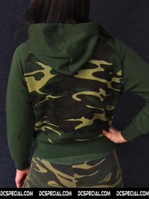 DC's Special Women's Hooded Sweater 'Headphone Neon Green'