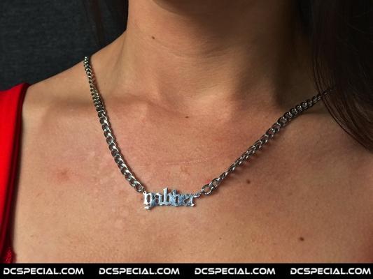 100% Hardcore Silver Necklace 'Gabber'