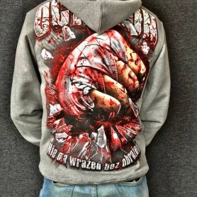 Octagon Hooded Sweater 'Blooded Fist'