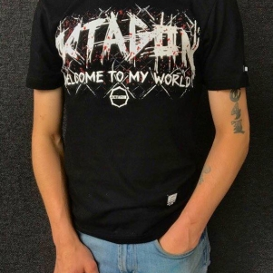 Octagon T-shirt 'Welcome To My World'