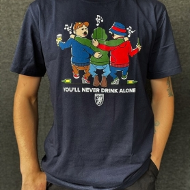 PGwear T-shirt 'Never Drink Alone Navy Blue'